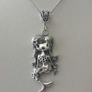 Jewelry - Mermaid Necklace/ Silver Mermaid/Mermaid
